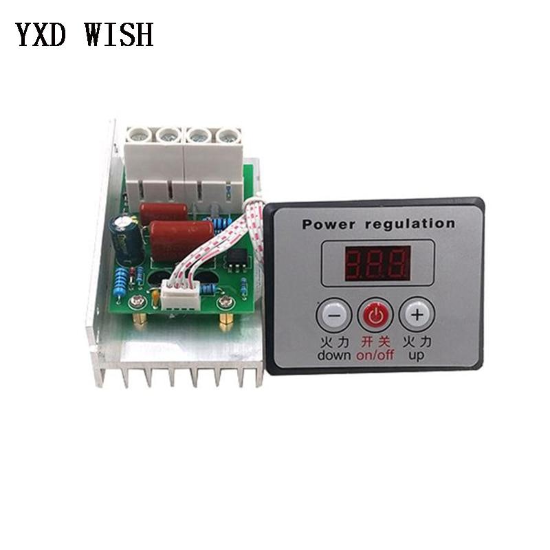 10000W Motor Speed Controller High Power AC 220V SCR Voltage Regulator Dimmer Switch Speed Control Thermostat + Digital Meter