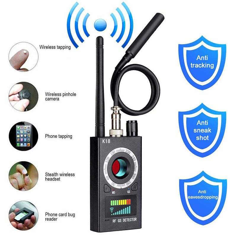RF Signal Detector Camera Finder Bug Detector Tracking Device for Travel Hotel VH99