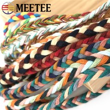 10M 3 Strands Braided Rope Twisted Cotton Cords 8mm DIY Craft Decor Ropes Hair Gift Packing Diy Clothing Accessories