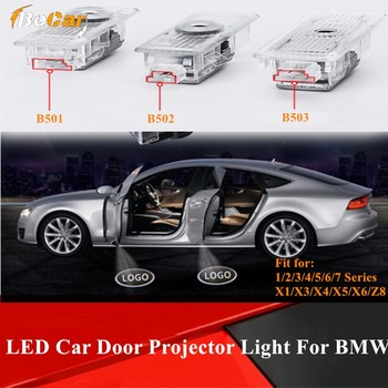 2 Pcs Auto Door Welcome Light Projector For BMW E46 E90 E60/61 E65-68 F20 F21 F52 Car Door Projector Light 1/3/4/5/6 Series image