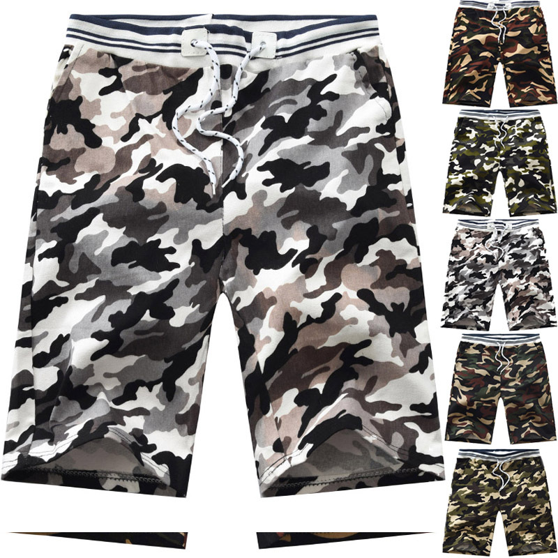 2019 Summer Day New Style Beach Casual Shorts MEN'S Middle Pants Casual Pants Shorts Camouflage Pants