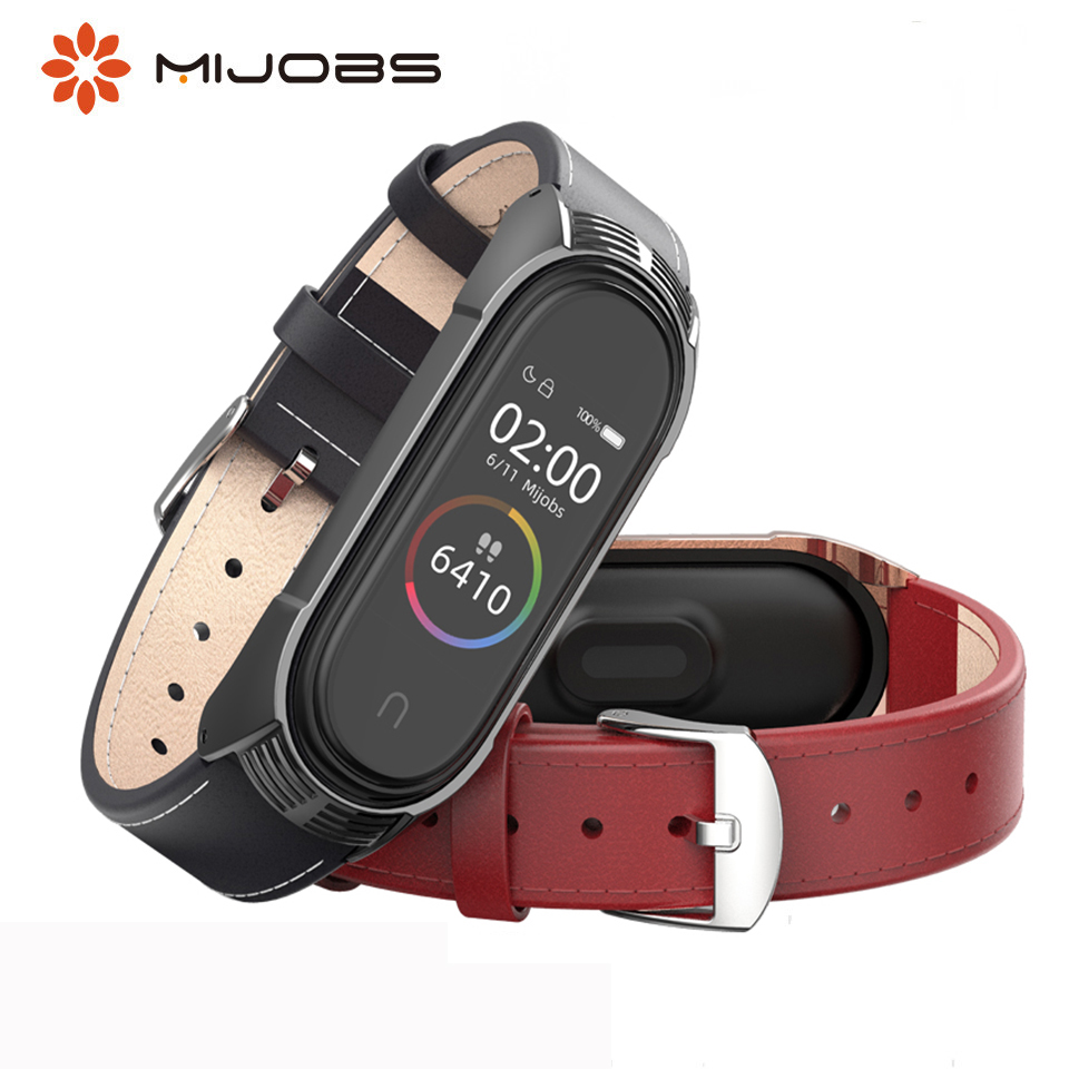 Bracelet for Mi Band 5 Strap Genuine Leather Wristband for Xiaomi Mi Band 4 Wrist Strap Miband 3 Strap Mi Band 5 Band Accessory