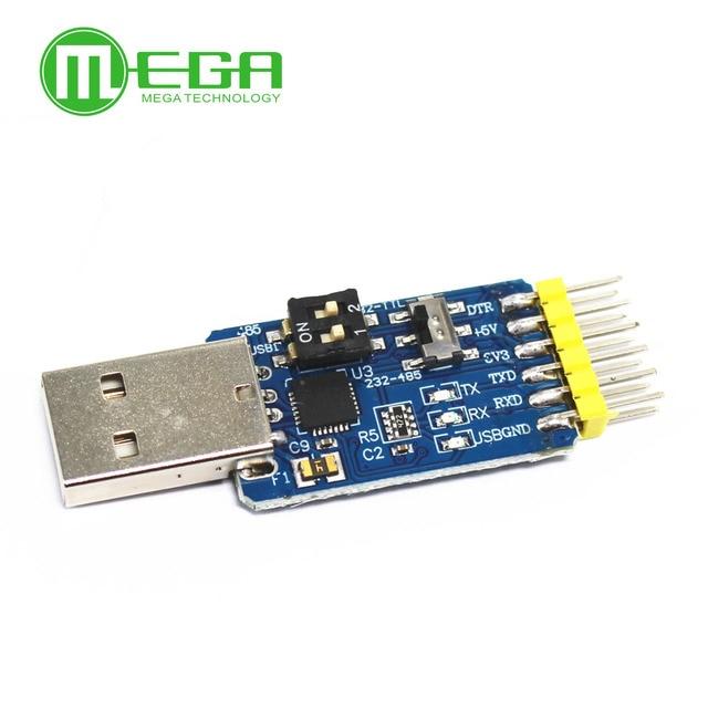 Nouveau USB CP2102 à TTL RS232 USB TTL à RS485 convertisseur mutuel 6 en 1 Module de conversion bon