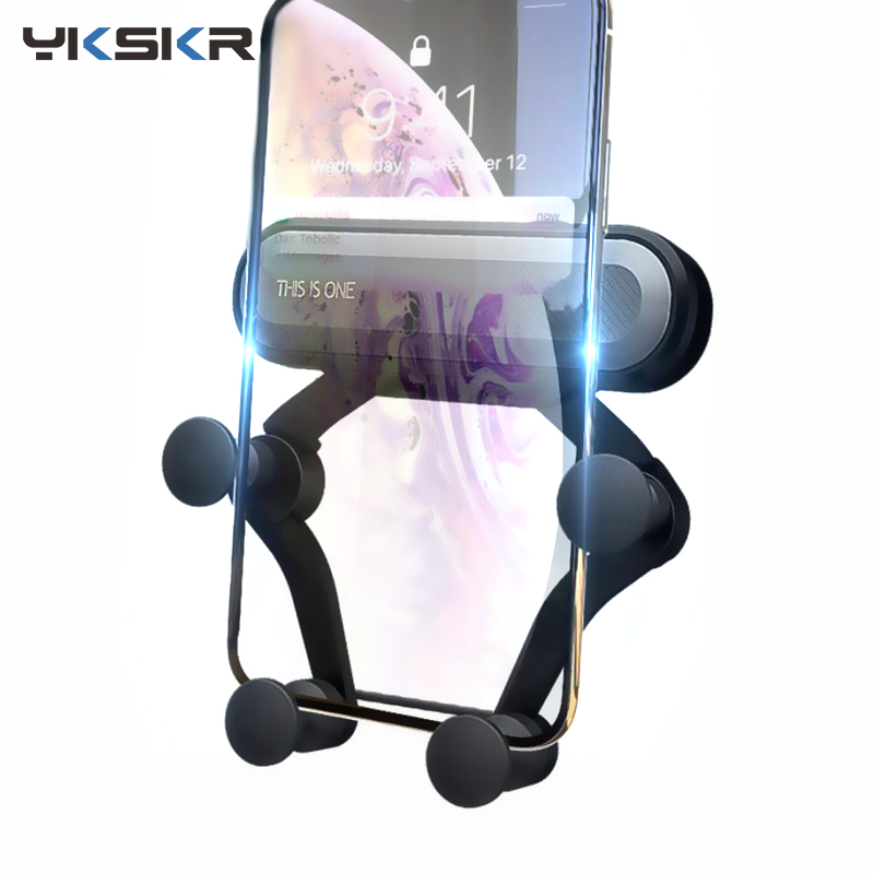 Universal Gravity Bracket Car Phone Holder Air Vent Mount Stand Clip For Smartphone In Car Holder For IPhone X Xr MAX Samsung S9