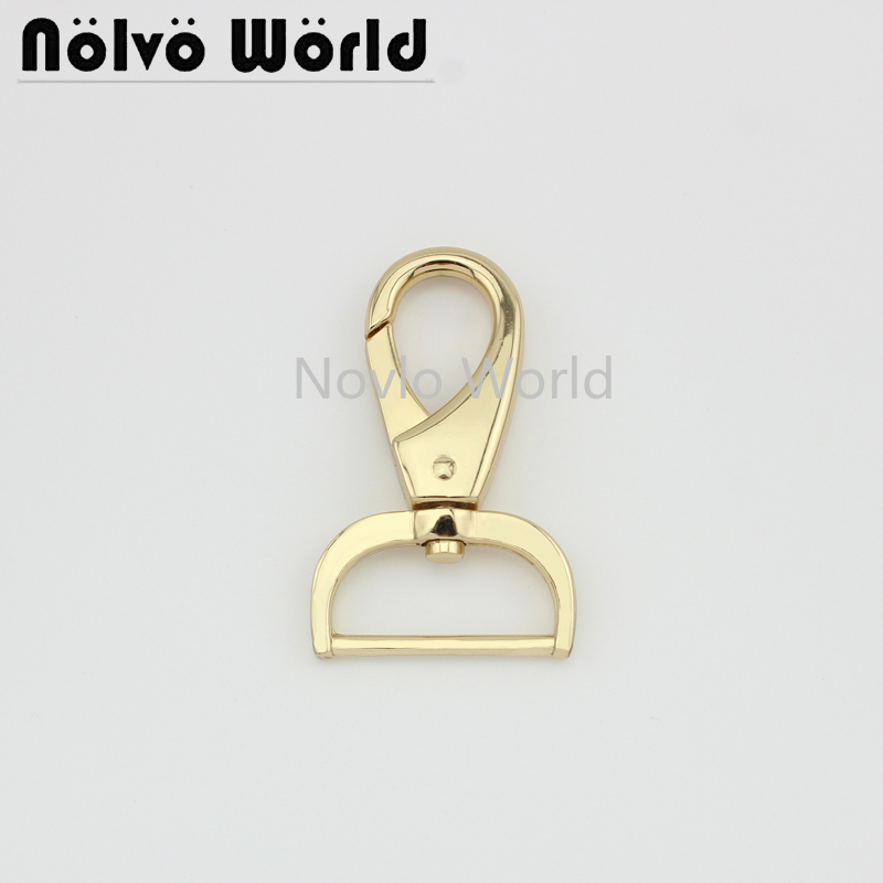 Wholesale 500pcs, 4 Colors Accept Mix Color, 63*32mm 1-1/4 Inch Metal Strap Buckle For Handbags, Swivel Snap Hook Accessories