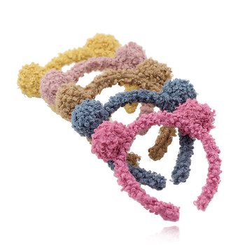 Candy Color Soft Plush Headband Winter Women Furry Lambswool Head Hoop Headwear Solid Hair Accessories Hairband For