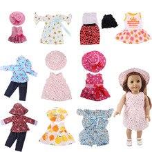 Платья и костюмы для кукол, 11 комплектов, подходит для лета и осени 18 дюймов и новорожденных, подарки на день рождения, игрушки для девочек