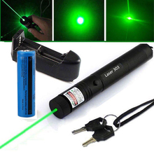 Green Laser Sight Red Blue laser pointer hight Powerful Adjustable Focus Lazer with 303 and 18650 battery