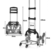 Hand-Truck Dolly-Luggage Cart Moving-Bottom Folding Heavy-Duty Aluminum-Alloy Portable