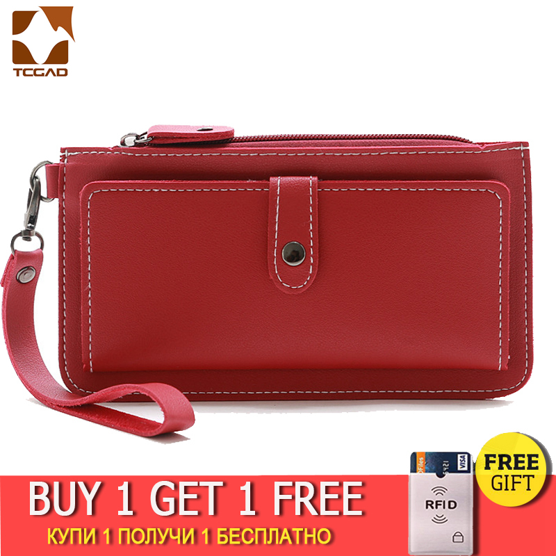 Wallet Women Clutch Female Sac Femme Monederos Para Mujer Monedas Leather Purse Compartment Brand Women's Phone Portable Bag