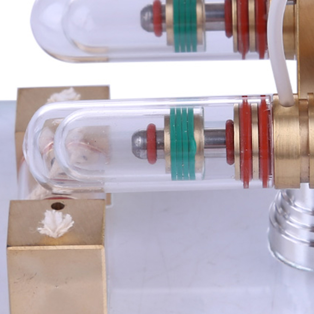2Pcs Quartz Glass Tube For Stirling Engine