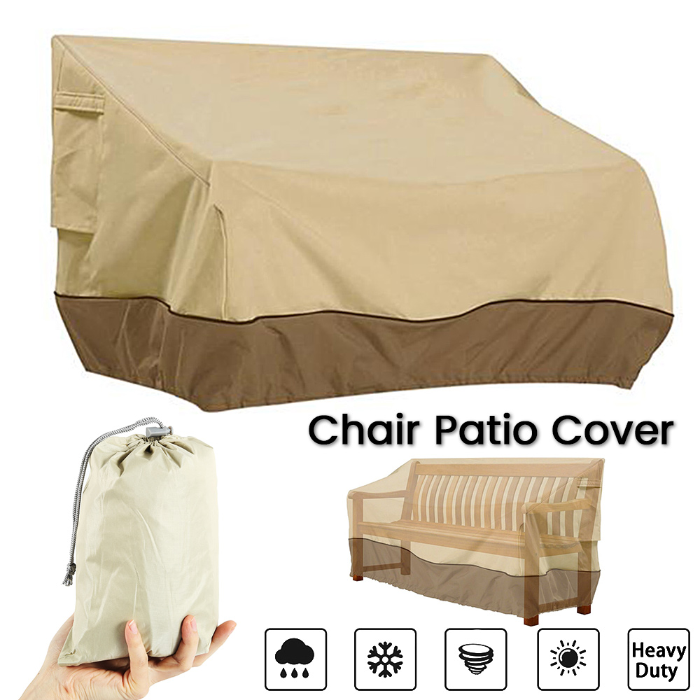 Patio Furniture Cover Outdoor Yard Garden Chair Sofa Waterproof Dust Cover Sun Protection Oxford Cloth Foldable Drawstring Table
