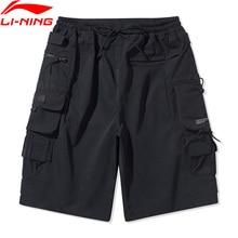 Li-Ning Men Basketball Series Leisure Shorts 100%Polyester Loose Fit LiNing Breathable Sport Shorts Bottoms AKSQ113 MKD1673