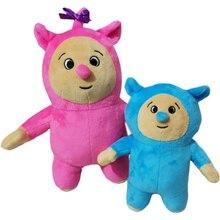 2 unidades/lote de muñecos de peluche de Baby TV, Billy y Bam, muñecos de peluche suaves para niños, regalo de cumpleaños