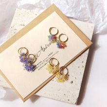 Lii Ji Ethiopian Opal/Tanzanite/Sapphire Emerald Ruby Gemstone Hoop Earrings 925 Sterling Silver Gold Plated Jewelry
