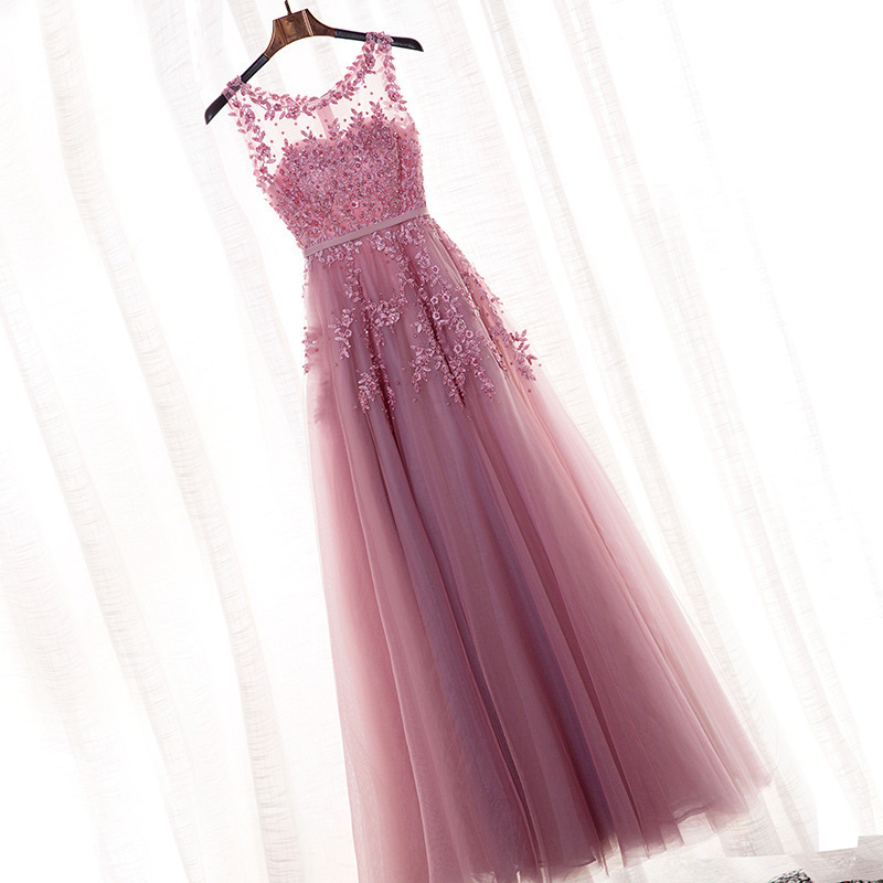 Evening Gown 2019 New Style Summer Banquet Bridesmaid Dress Long Bride Marriage Dress Women's Dress For Toast