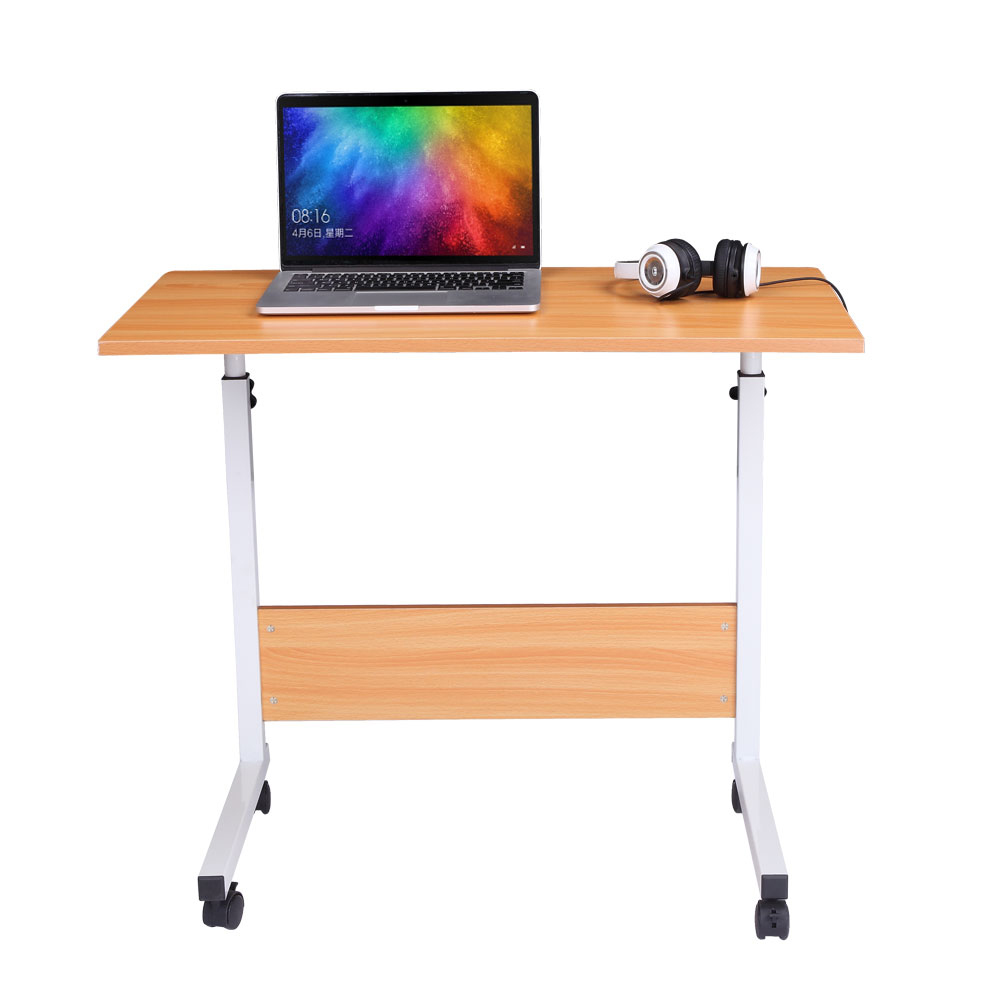 Computer Desk Large-Size Portable Multi-Purpose Baffle - Beech Color For The Study Room Office  Use