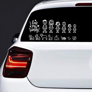 15 см x 13 см интересная семейная наклейка на автомобиль, автомобили, мотоциклы, окно, бампер, виниловая переводная наклейка для ноутбука PVC Декоративные товары|Наклейки на автомобиль|   | АлиЭкспресс