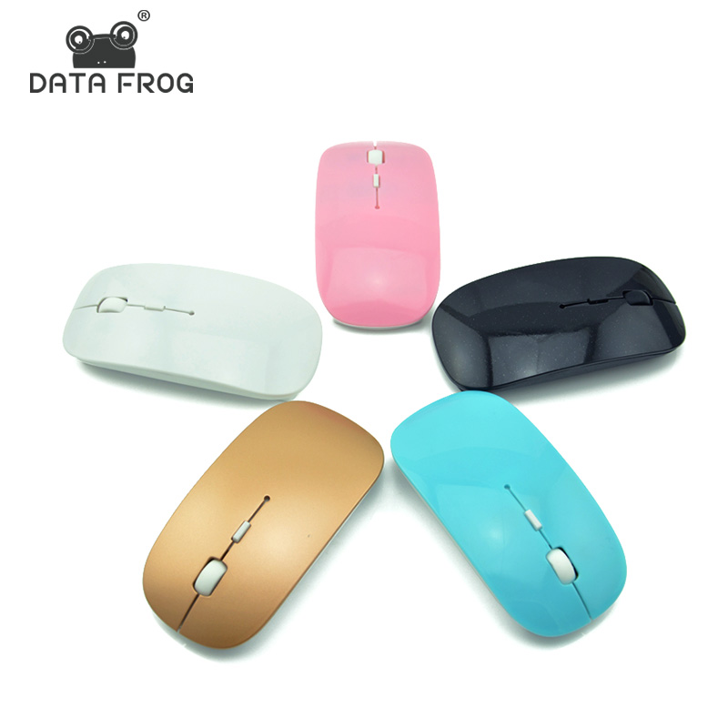 DATA FROG 2.4G Wireless Mini Mouse For Mac USB Optical Receiver Mice For Laptop Notebook PC Desktop For Macbook Ultra Thin New