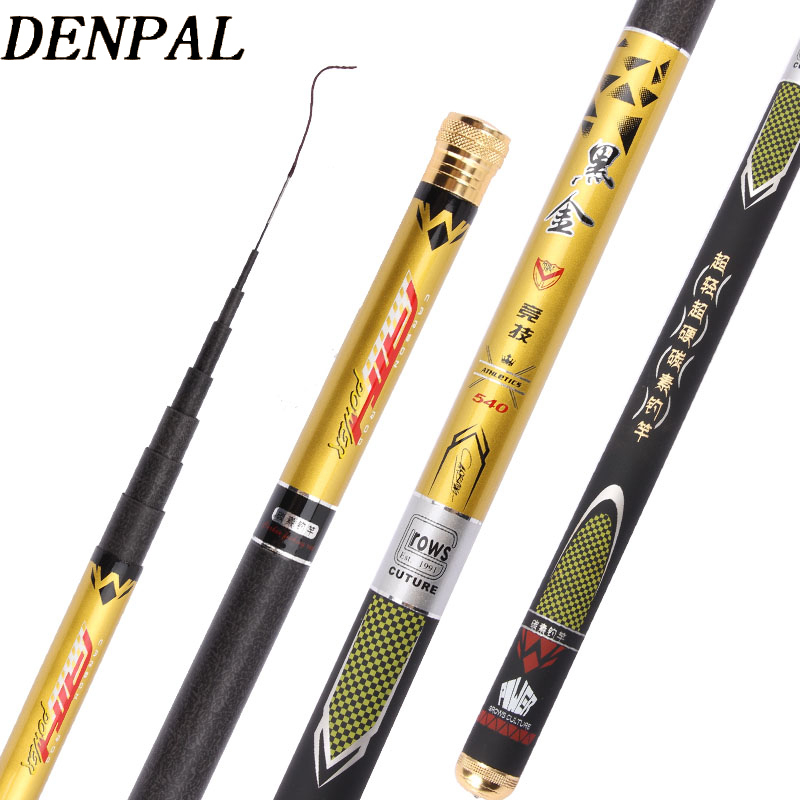2019 NEW High Quality Super Light Hard 3.6m/4.5m/5.4m/6.3m/7.2m Telescopic Fishing Rod Carbon Fiber  Hand Pole For Carp Fishing