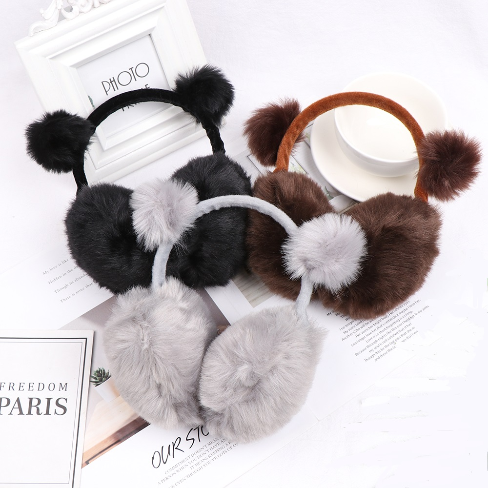 2020 Fashion Warm Winter Earmuffs For Children Imitation Rabbit Fur Ear Muffs Girls Boys Baby Adult Plush Earcap Warm Ear Cover