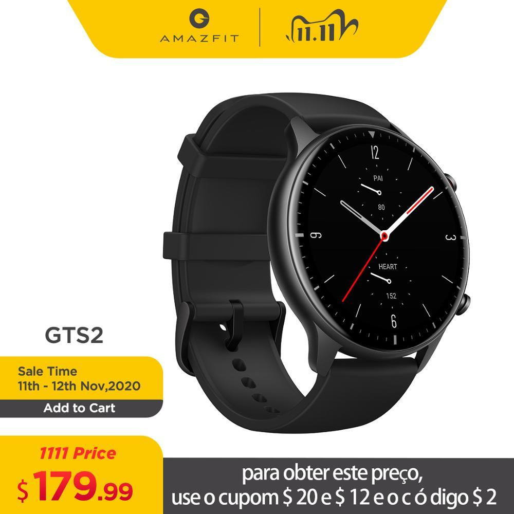 2020 New Amazfit GTR 2 Smartwatch 14-day Battery Life 326ppi AMOLED Display Music 5ATM Confident Time Control Sleep Monitoring