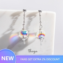 Thaya Rainbow Bubble Earrings Water Droplets Stud 925 Silver for Women Original Design Fashion Gift