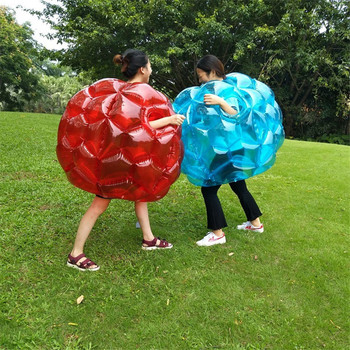 Kids Outdoor Toys 60cm PVC Air Bubble Soccer Inflatable Collision Ball Fun Outdoor Games Bubble Football Toys for Toddlers Boys free shipping 1 5m inflatable football bubble ball bumper ball body zorbing bubble soccer human bouncer bubbleball