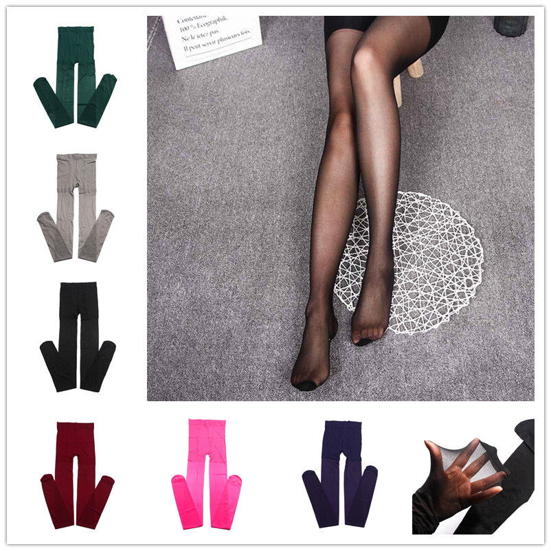 New Women's Sexy Fashion Candy Color Velvet Transparent Tights seamless Stockings Pantyhose Retail/Wholesale
