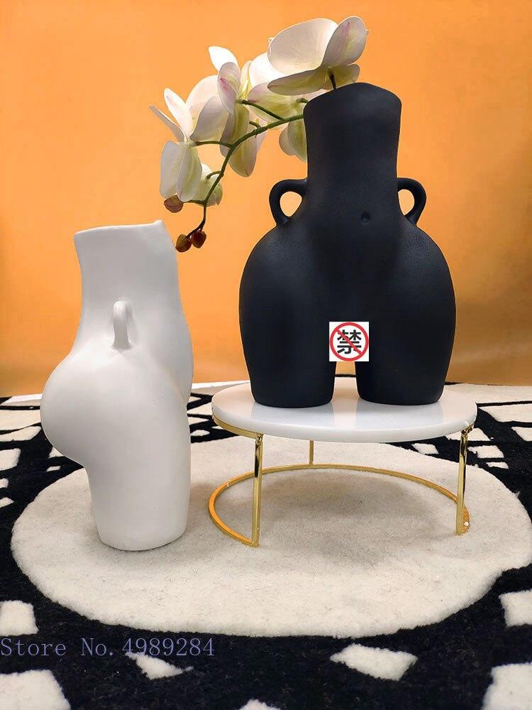 יצירתיות אדם אגרטל שרף התחת עירום מלאכת ריהוט בעבודת יד מודרני עיצוב הבית סידור פרחי פרח אגרטלים