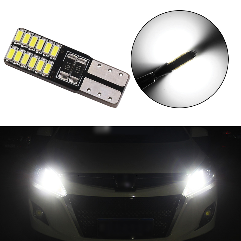1PCS Auto W5W LED T10 194 168 Canbus 24 Smd Led Lamp Car Front Side  Door Courtesy License Plate LED Light Bulbs 12V Car Styling