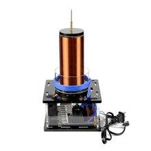 500w sstc bobina de tesla ac 110v/220v dc 12v conjunto grande música plasma chifre alto falante componentes eletrônicos diy bobina tesla