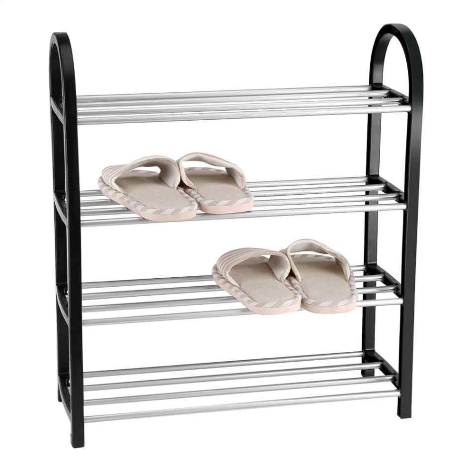 Shoe Rack Aluminum Metal Standing Shoe Rack DIY Shoes Storage Shelf Home Organizer Accessories shoe rack