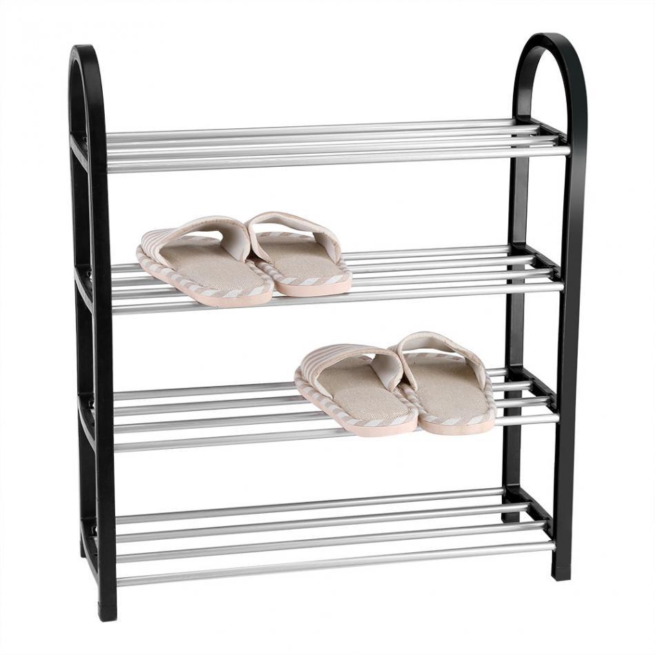 Shoe Rack Aluminum Metal Standing Shoe Rack DIY Shoes Storage Shelf Home Organizer Accessories shoe rack-in Shoe Racks & Organizers from Home & Garden