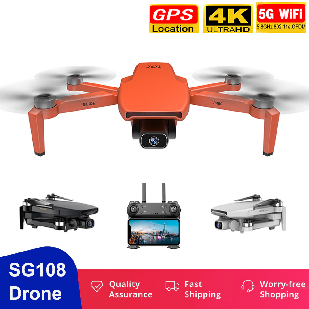 2020 SG108 Drone 4K Profesional 5G WiFi Dron Brushless Motor FPV Drone Flying 25Min RC Distance 1KM Quadcopter with Camera HD