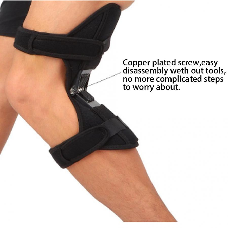 Image 3 - 2pcs Knee Brace Spring Lift Knee Boosters Joint Support Knee Pads for Mountaineering Squat Lift Knee Orthopedic Brace SupportsBraces & Supports   -