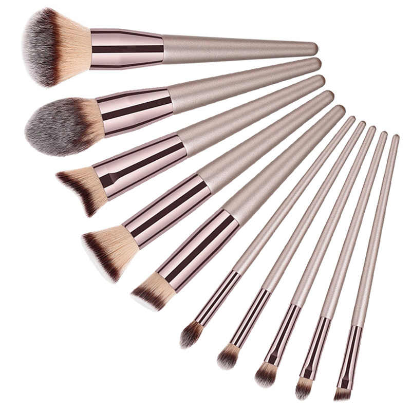 1PCS Kayu Foundation Kosmetik Alis Perona Mata Kuas Makeup Case Pemegang Kuas Makeup Rambut Lembut Makeup Brush Set #7