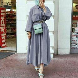 Camisa sólida retro vestido de verão das mulheres outono zanzea casual retalhos lapela maxi vestidos botão feminino muçulmano abaya robe