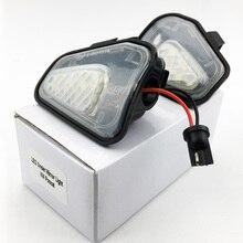 цена на 2PCS Car LED Side Mirror Puddle Lights Lamp No Error For EOS Passat B7 CC Scirocco Jetta