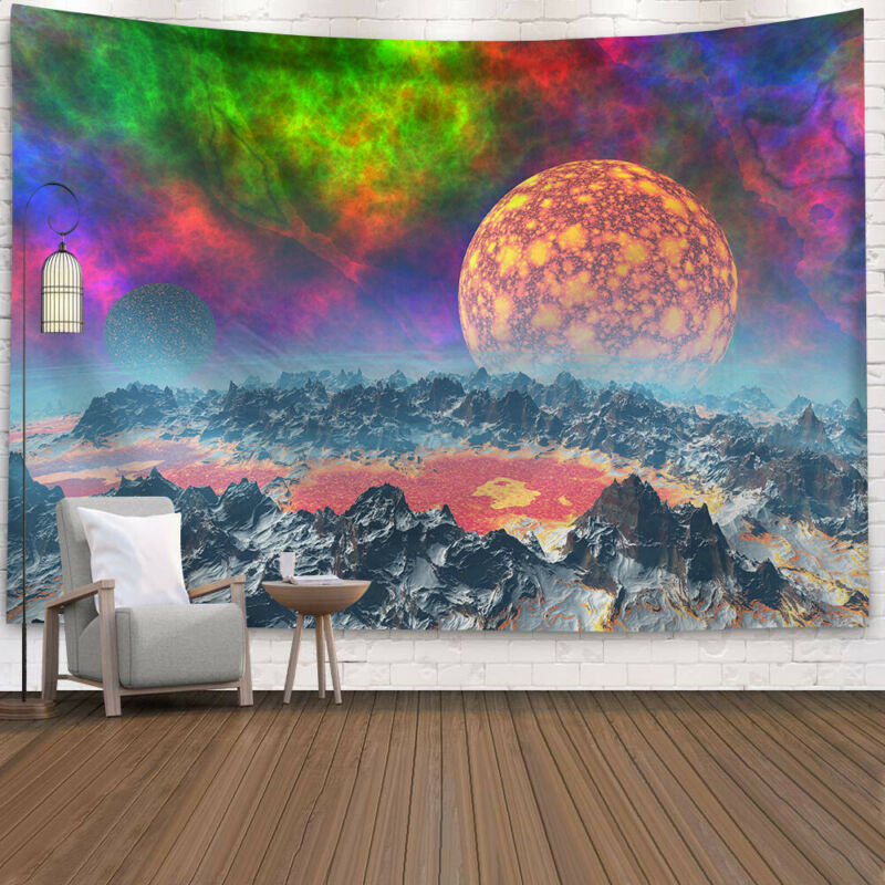 Hippie Psychedelic Tapisserie Wandbehang Mandala Zimmer <font><b>Tagesdecke</b></font> Haus Dekor Meditation Wall Hanging Decor Bohemian Hippie New image