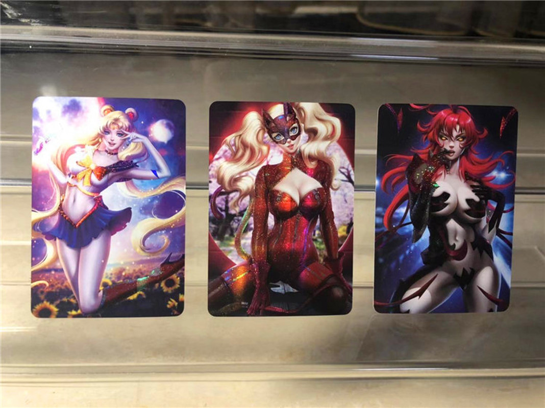 40pcs/set Sexy Beauty Sailor Moon Catwoman Captain MarvelHobbies Hobby Collectibles Game Collection Anime Cards Free Shipping 1