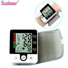Taşınabilir otomatik dijital LCD ekran bilek kan basıncı monitörü cihazı kalp yendi hızı darbe metre tedbir tonometre