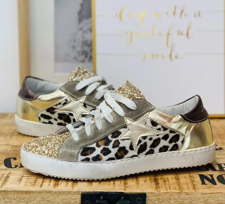 Fashion Casual Shoes Wedges Vintage Shoes Woman Mid Heels Sandalias Leopard  Mujer Sapato Feminino E2014