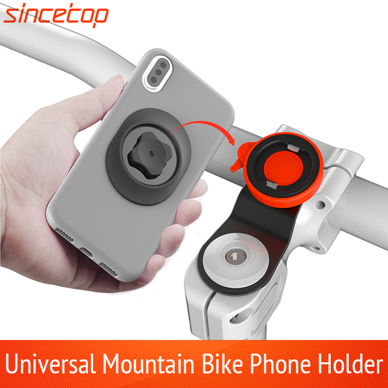 Universal Mountain Bike Phone Holder Bicycle Mobile Phone Stand Quick Mount Strong Paste Adapter Bike Handlebar Stand Bracket