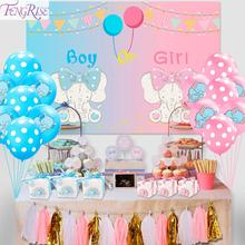 FENGRISE Elephant Party Girl Boy Baby Shower Decoration Birthday Party decoration Kids Blue Pink Candy Bar Deco Babyshower Decor