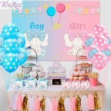 FENGRISE ช้าง PARTY GIRL BOY Baby Shower ตกแต่งวันเกิดตกแต่งเด็กสีฟ้าสีชมพู Candy Bar Deco Babyshower Decor