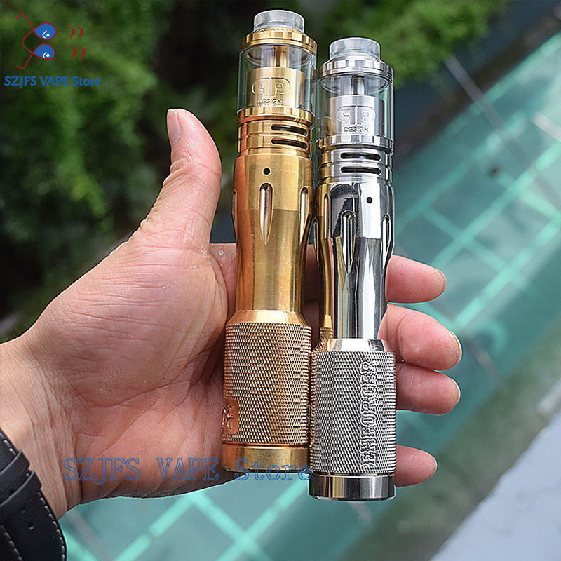 Enforcer Mech Mod With QP Designs Fatality M25 RTA Tank 25mm 4ml/ 5ml Rta18650 20700 21700 Battery  Vape Mod Kit VS Tauren Mod