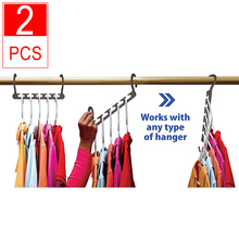 2pc Multi-functional Magic Space Saving Hangers for Clothes Cabinet Kledinghanger Closet Organizer Kleerhanger Wonder Hanger 8 pcs space saver wonder magic clothes hangers closet organizer hooks racks new page 4