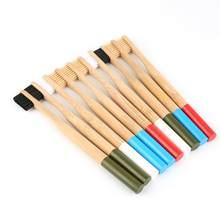 Y & W & F – brosse à dents en bambou naturel écologique, poils moyens biodégradables, sans plastique, soins buccaux pour adultes et enfants, 1 pièces