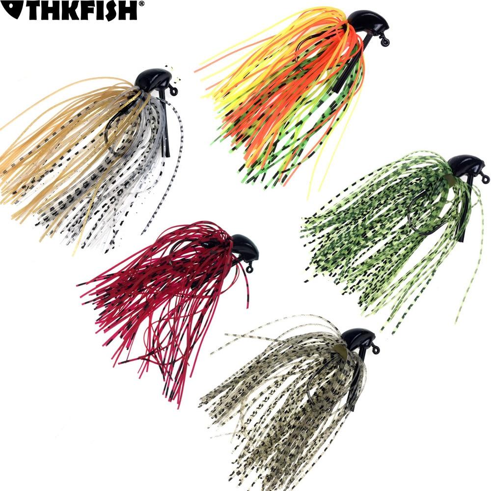 5Pcs Jig Fishing Lures Pesca Artificial Bait Skirt Rubber Fishing Jigs Head Buzz Swim Bass Jig 7g /10g/14g 1/4oz 3/8oz 1/2oz